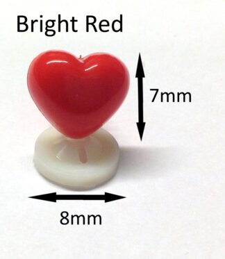 Bright Red 8 x 7mm Heart Noses