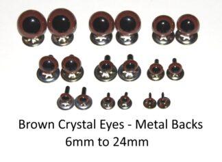 Brown Eyes Metal Backs