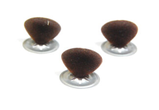 12mm Brown Flock Noses