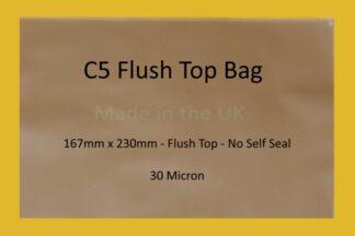 C5 Flush Top Cello Bag