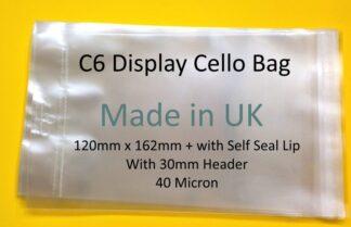 C6 Card Cello Display Bags