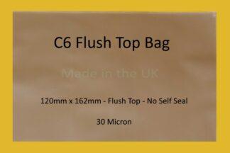 C6 Flush Top Cello Bag