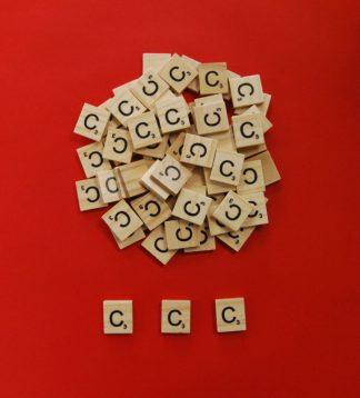 Letter 'C' Scrabble Wooden Tiles