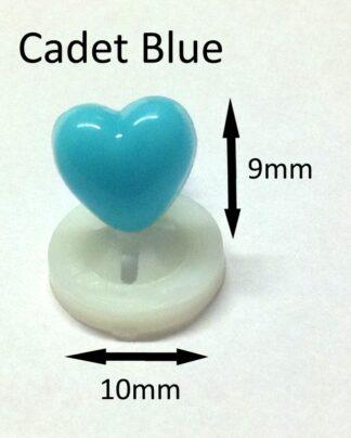 Cadet Blue 10 x 9mm Heart Noses