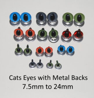 Mixed Cats Eyes Metal Backs