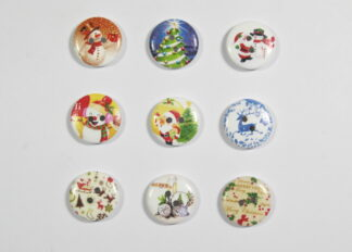 20mm Christmas Themed Round
