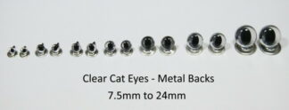 Clear Cats Eyes Metal Back
