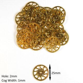 Antique Golden 25x1x2mm