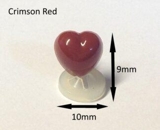 Crimson 10 x 9mm Heart Noses