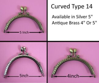 Curved Type 14 Purse Clasps