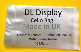 DL Card Cello Display Bags