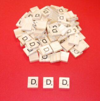Letter 'D' Scrabble Wooden Tiles
