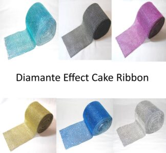 Diamante Effect Cake Ribbon