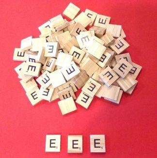 Letter 'E' Scrabble Wooden Tiles