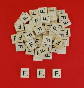 Letter 'F' Scrabble Wooden Tiles