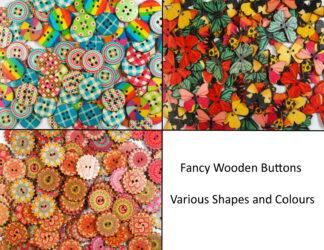Fancy Wooden Buttons