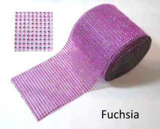 1 Metre Fuchsia Diamante Ribbon