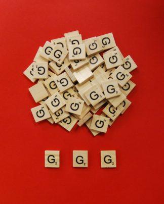 Letter 'G' Scrabble Wooden Tiles