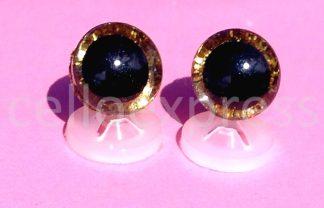 3D Gold Glitter Eyes