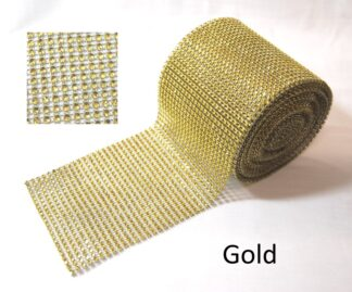 Gold Diamante Effect Ribbon