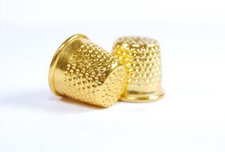 Gold Metal Thimbles