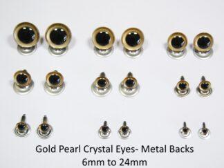 Gold Pearl Eyes Metal Back