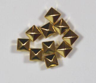 6mm Gold Pyramid Rivets