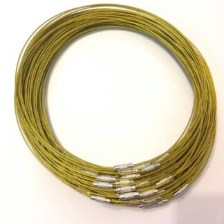 Gold RidgedClasp Wire Necklaces