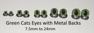 Green Cats Eyes Metal Back