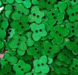 Green Glitter Butterfly Buttons