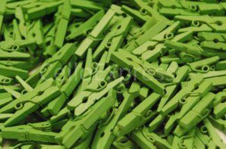 25mm Green Mini Wooden Pegs