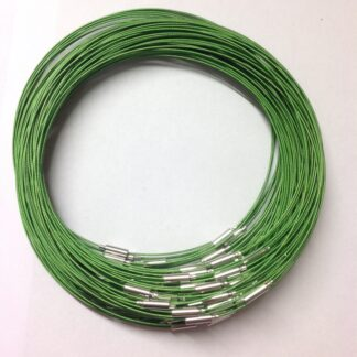 Green Plain Clasp Wire Necklaces