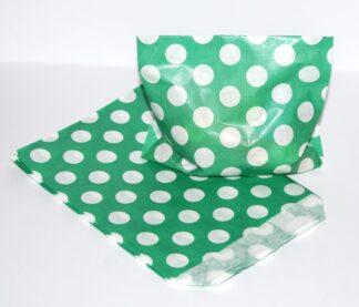 "7"" x 9"" - Green Paper Sweet Bags"