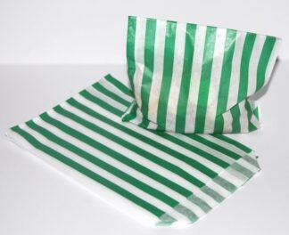 "5"" x 7"" - Green Paper Sweet Bags"
