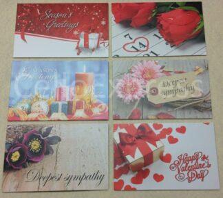 60mm x 90mm Florist Cards