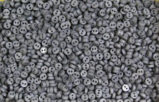 Mini Doll Buttons Grey Circles