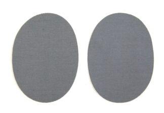 Grey Denim Elbow Patches