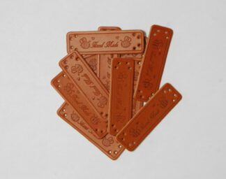 Handmade Bees Leather Tags