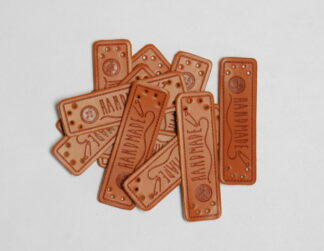 Handmade Buttons Leather Tags