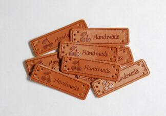 Handmade Cherry Leather Tags