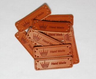 Handmade Crown Leather Tags