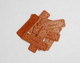 Handmade Hearts Leather Tags