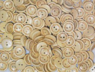 25mm Wooden Handmade Buttons