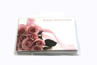 Happy Anniversary - Pink Flowers