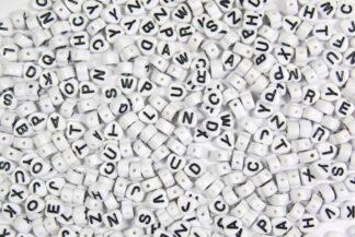Heart Acryllic Alphabet Beads