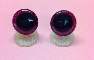 3D Hot Pink Glitter Eyes