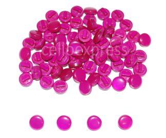 Hot Pink Mushroom Buttons