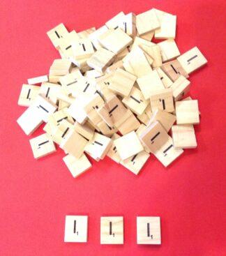 Letter 'I' Scrabble Wooden Tiles