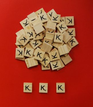 Letter 'K' Scrabble Wooden Tiles