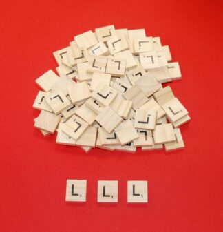 Letter 'L' Scrabble Wooden Tiles